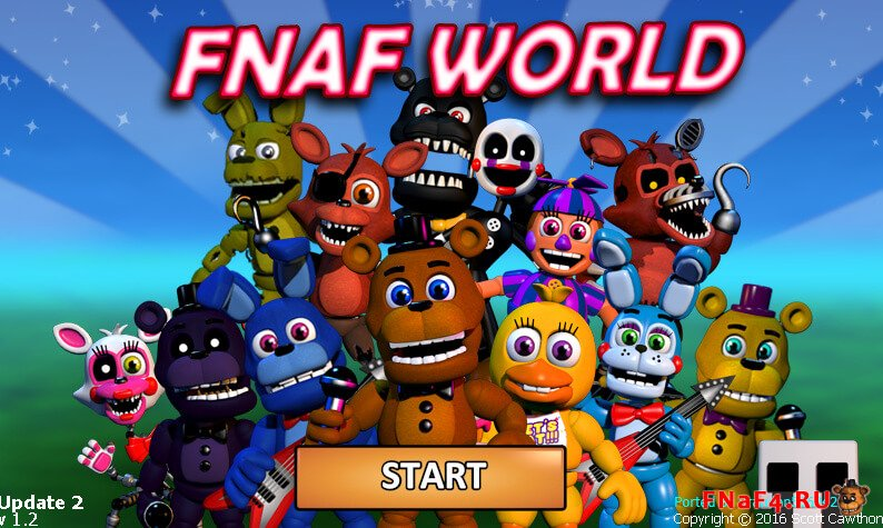 скачать fnaf world 3d update 2 на андроид