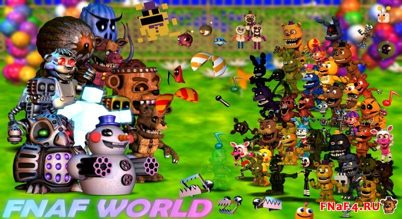 Скачать Игру Фнаф Ворлд Update 2 - фото 3