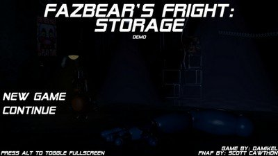 Fazbear's Fright 2018: Storage